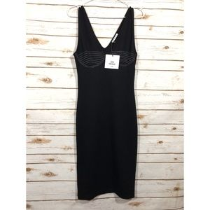 Zara Trafaluc Black Sleeve Less Mini Dress Size S